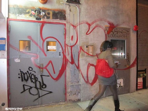 NYC. Door with Fast Moving Woman. by Making Deals Zine
