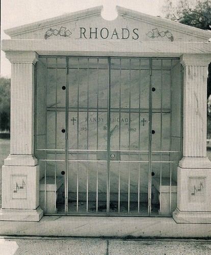 Randy Rhoads Final Resting Place, Mountainview Cemetery, San Bernardino, CA  (Photo by Anthony Saint James)