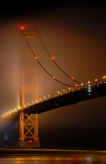 fog barrier (pbo31) Tags: california longexposure bridge orange black reflection northerncalifornia fog night bay lowlight nikon noir 101 bayarea marincounty sanfranciscobay d200 beacon northbay fortbaker goldengatenationalparks goldengatenationalrecreationarea southtower thegoldengatebridge