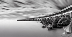 Guardian (stevoriley) Tags: longexposure blackandwhite bw clouds sussex blackwhite brighton 110 monotone panoramic nd brightonmarina neutraldensity nd110