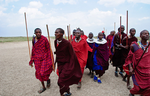 Marching Masai