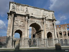 Arch of Constantine (Luthien Nenharma) Tags: italien italy rome roma italia colosseum rom archofconstantine kolosseum konstantinsbogen