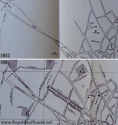 Planurile orasului Ploiesti - zona Garii de Sud