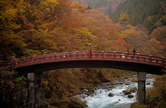 (chingwa) Tags: bridge trees nature japan forest river arch nikko shinto  shinkyo