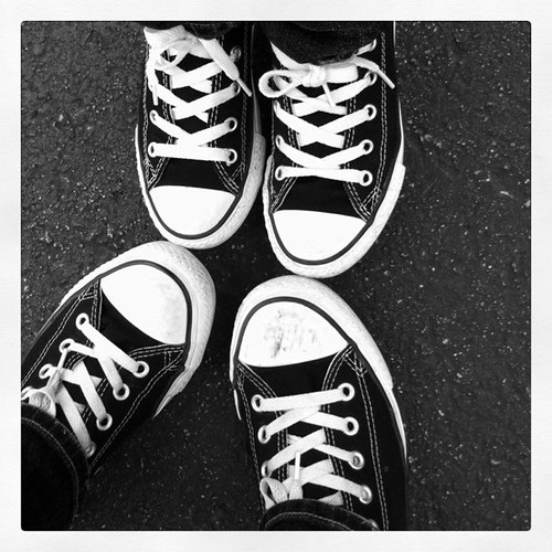 Project 365 78//365: Mother and son, jeans and Chucks.