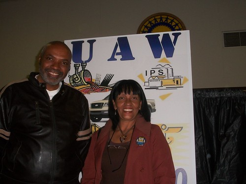 Cuban representative of the World Federation of Trade Unions, Gilda Chacon Bravo, with Abayomi Azikiwe, editor of the Pan-African News Wire. The Cuban representative spoke at UAW Local 600 on March 20, 2011. (Photo: Cheryl LaBash) by Pan-African News Wire File Photos