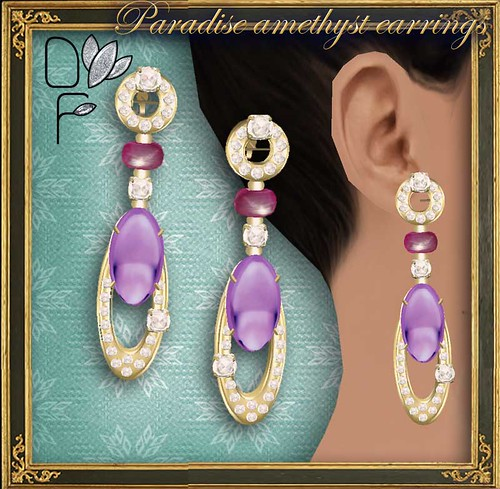 PARADISE amethyst earrings