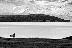 Lake Tekapo, New Zealand (Matthew Post) Tags: newzealand christchurch bw mountain lake snow mountains ice silhouette landscape shoreline canterbury zen nz southisland laketekapo centralotago hdr