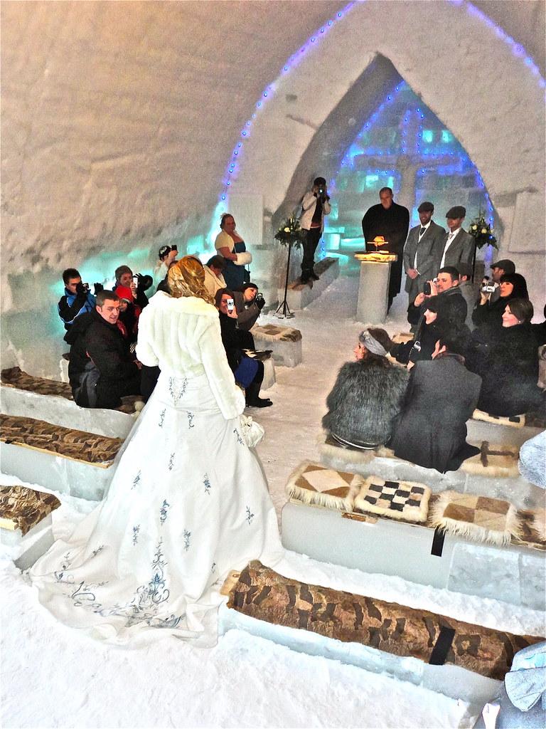 Bride in Ice Church