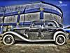 Vintage car|Dubai HDR Photographer (vineetsuthan) Tags: old blue sky black cars vintage nikon dubai age tyres d300s vineetsuthan