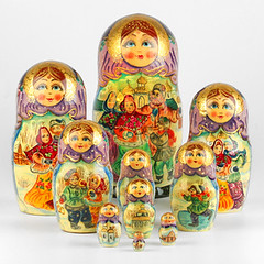 Russian Family Celebration Nesting Doll (The Russian Store) Tags: matrioshka matryoshka russiannestingdolls  stackingdoll  russianstore  russiangifts  russiancollectibledolls shoprussian