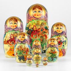Russian Family Celebration Nesting Doll (The Russian Store) Tags: matrioshka matryoshka russiannestingdolls  stackingdoll  russianstore  russiangifts  russiancollectibledolls shoprussian
