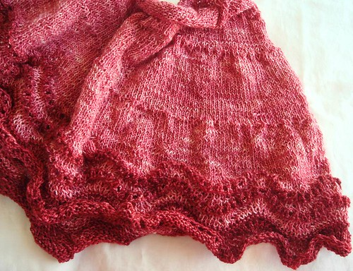 Pink Whippoorwill shawl