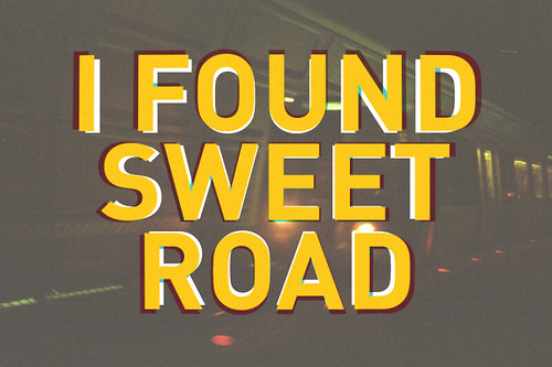 (optical illusion) i found sweet road