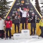 2011 Canadian Championships Downhill - Ladies Podium -         1 JANYK Britt;  2 FREEMAN Sarah;  3 STEVENS Victoria;  4 GAGNON Marie-Michele;   5 VALLERAN Laurence