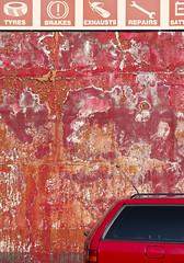(Yermaaaaaaaaaaaaaaaaaaaaaaaaaaaaaaaaaaaaaaaaaaaaaa) Tags: ireland red urban abstract broken window car wall decay garage northernireland newtownards yermaaaaa
