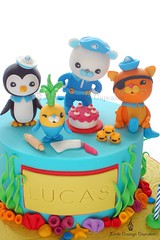 Octonauts (Little Cottage Cupcakes) Tags: birthday sea cake underwater rollingpin peso caketoppers octonauts tunip kwazii littlecottagecupcakes captainbarnacles kelpcakes