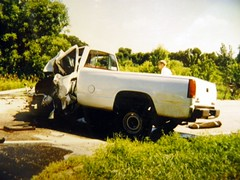 One Very Bad Car Accident 1996 #2 (rabidscottsman) Tags: minnesota truck hospital hurt crash 1996 boom emergency ems critical gmc crushed caraccident injuries c1500 airlifted ricecountyminnesota