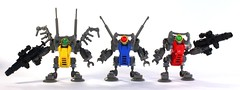 HC Series Mechanoids (Legoloverman) Tags: robot lego hc hcseries