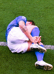 Golpe (dance and laugh) Tags: tattoo football pain hurt crash soccer injury player match ankle dolor partido ftbol tatuaje golpe lesin herida jugador tobillo