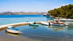 A Quiet Bay in Dugi Otok, Croatia (Thomas Bullock) Tags: ocean blue sea summer vacation sun water canon photography islands coast boat europe mediterranean tour bullock thomas croatia boating sail dugi otok kornati t2i