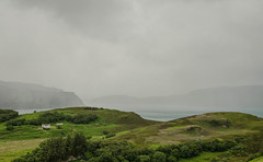 RAIN AER RAASAY (DanielO'Donnell & AbiPonceHardy) Tags: scotland landscape raasay isle island road trip adventure skye house cottage hills grassland rain clouds colonel mustard madame dijon daniel odonnell journey