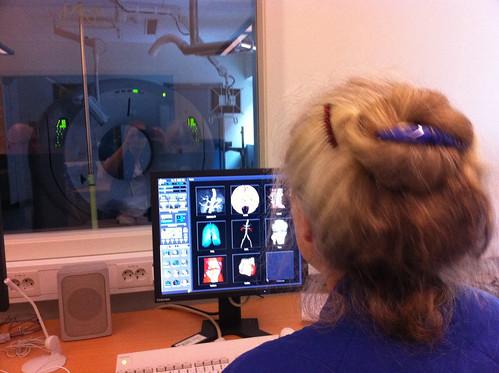 Margaretha utforsker nye CT'en
