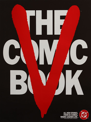 DC Comics promotional poster - V-The Comics Book - 1984