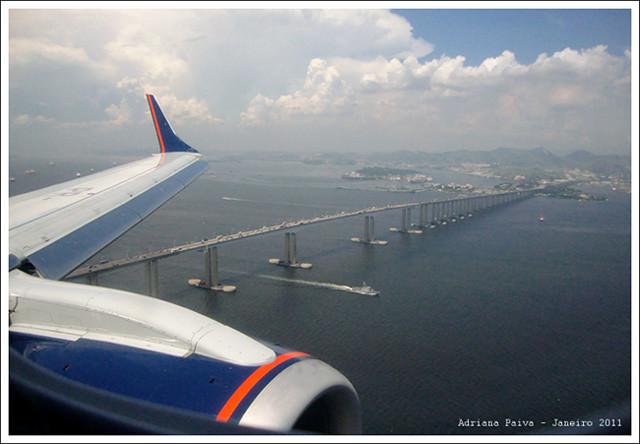 Voando de Azul do Viracopos ao Santos Dumont - Foto por Adriana Paiva