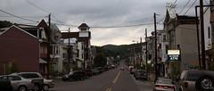 2010 05 22 - 6837 - Girardville - Main St (thisisbossi) Tags: usa streets us mainstreet unitedstates pennsylvania panoramas overcast pa roads panoramics schuylkillcounty coalcracker downtowns girardville