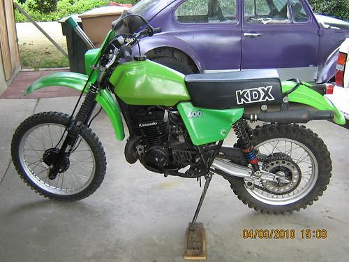 1980 kawasaki kdx 400 stock