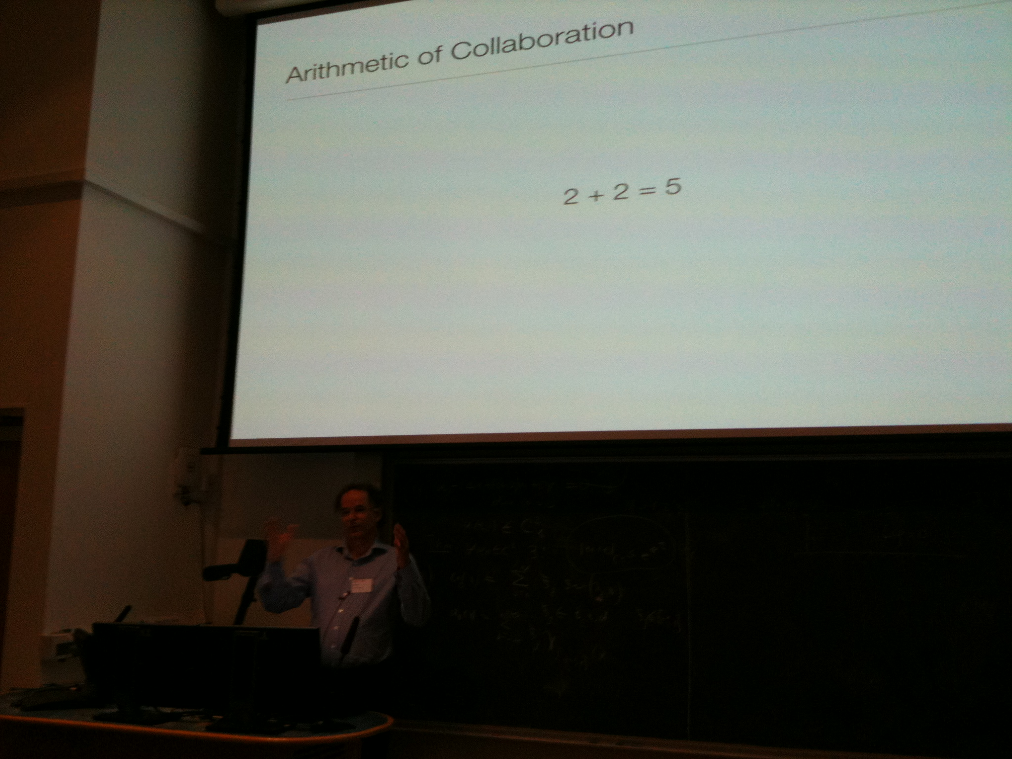John Norman ponders the arithmatic of collaboration