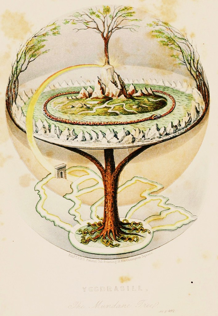 """Saiwa Muora"" (Sami language: i.e. Holy Tree) or Yggdrasil from Nordic Mythology.  Or are there several similar mythologies in the Nordic?"