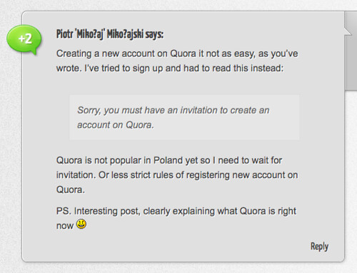 Creating a new account on Quora in Poland is not easy