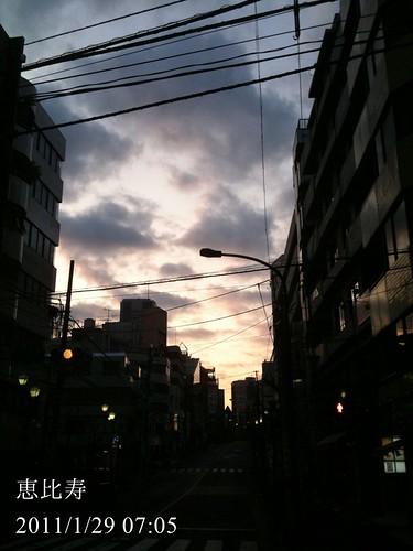 早朝ウォーキング(2011/1/29)