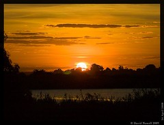 Sunset in central Zambia. 2009.