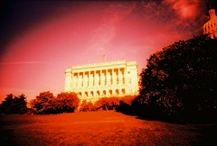 DC in the warm glow of XPRO (kevin dooley) Tags: film analog 35mm lens us dc lomo xpro lomography crossprocessed xprocess slim cross angle wide plastic capitol process cheap vivitar extra uws ws 22mm washngton vivitarextrawideslim vivitarextrawideandslim wuws