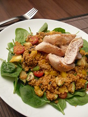 Chicken cous cous salad (adele.turner) Tags: food chicken salad couscous healthyfood chickensalad couscoussalad