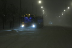 stranded bus - Chicago Blizzard 2011 (Andrew Huff) Tags: snow chicago bus cta blizzard westernavenue ctabus snowcane snomg chicagoblizzard2011