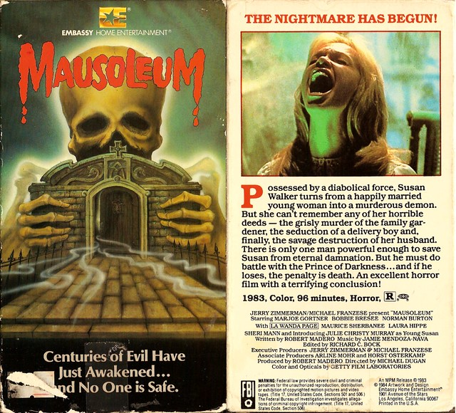 Mausoleum (VHS Box Art)