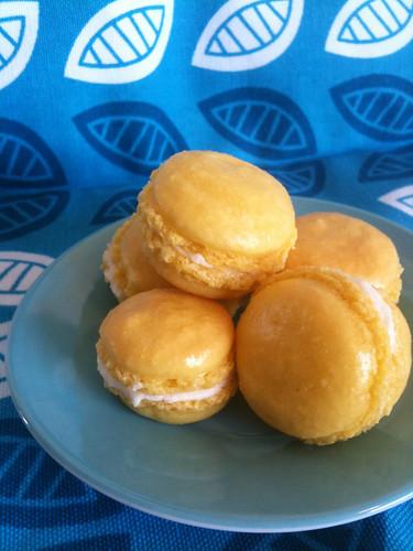 Homemade Mango Macarons