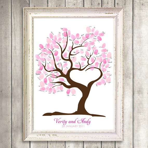 guest book tree of love