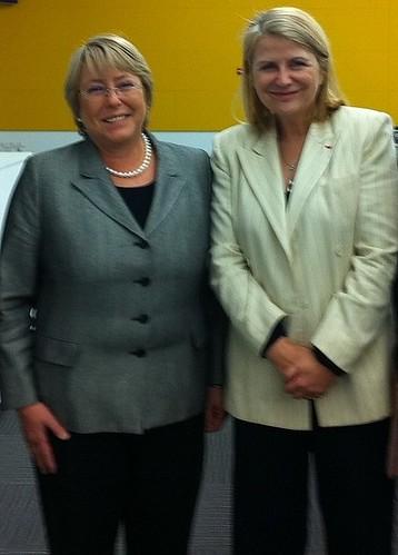 ONU Femmes - Michelle Bachelet et JGM