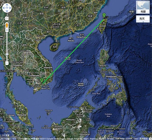 map-Ho Chi Minh City - Taipei