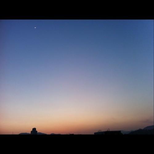 2011/2/7 夕焼け 今日も暖かい一日でした。