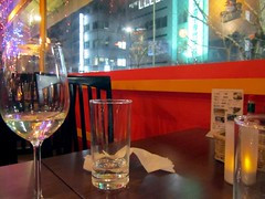 25/365: Midweek Dinner & Drinks (joyjwaller) Tags: color window glass japan bar table restaurant tokyo glasses shinjuku project365 midweekdinnerdrinks makingitthroughtheweek