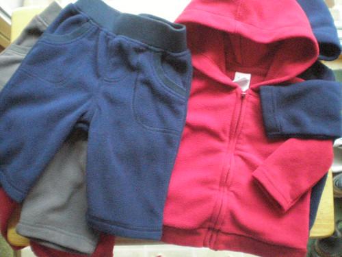 Fleece track suits