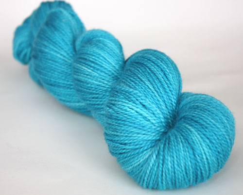 Love is...loving your sign ~Aquarius~ on 50/50 SW Merino/Silk Sport