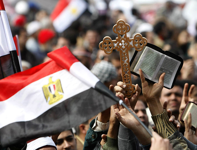 Egypt's Coptic Christians and Muslims in Tahrir Square