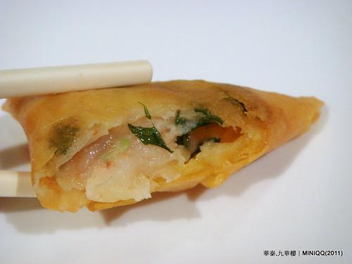 20110209 華泰飯店九華樓_12 韭菜炸蝦餅(3/NT.120)
